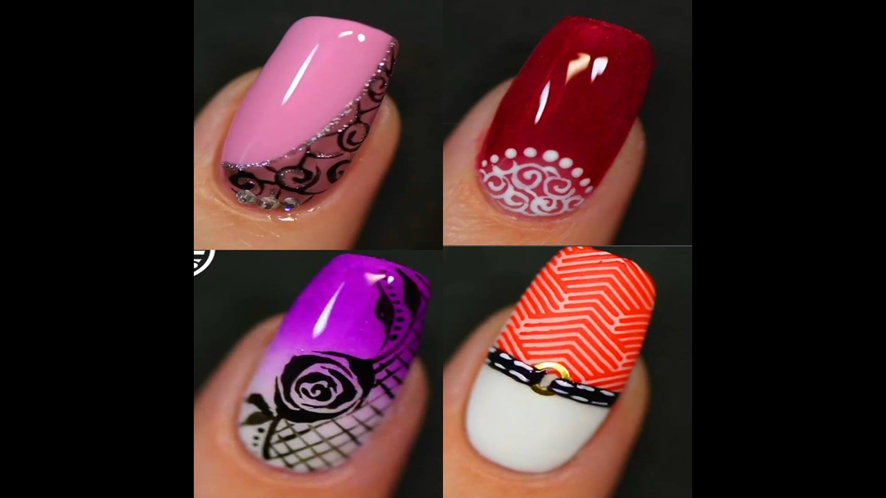 Inspirações de unhas decoradas com desenhos maravilhosos