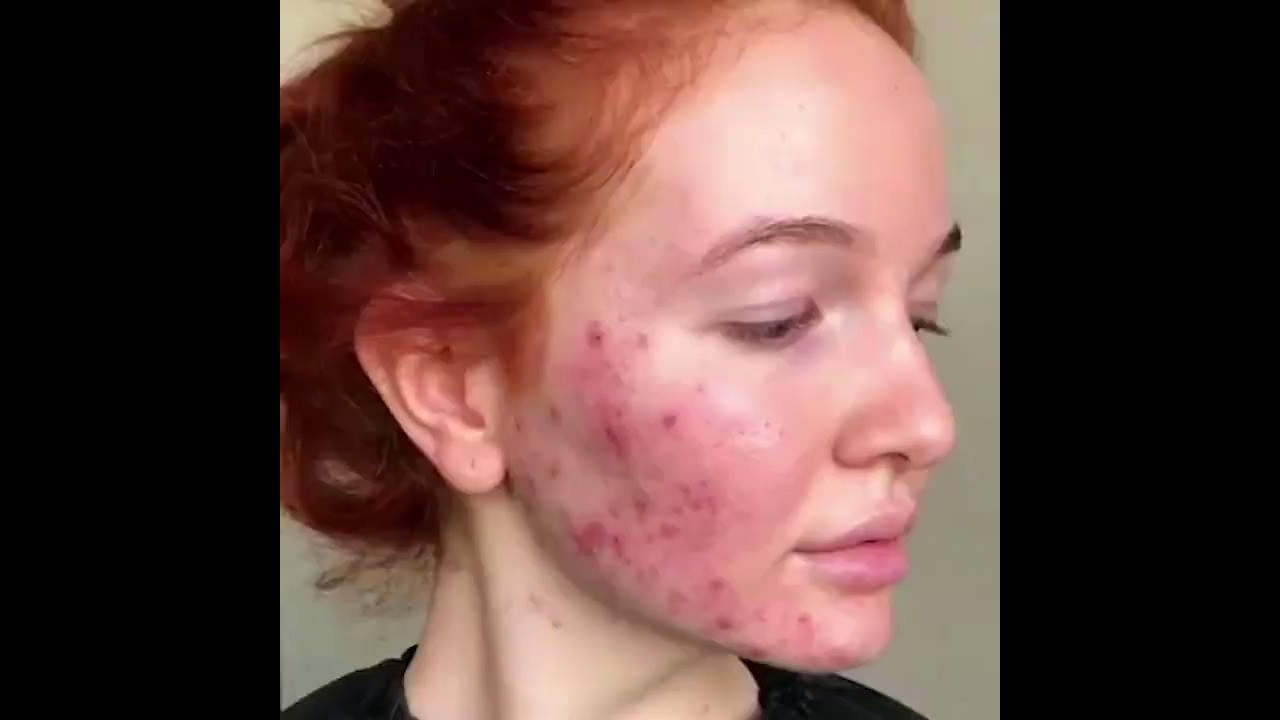 Linda transformação feita com maquiagem
