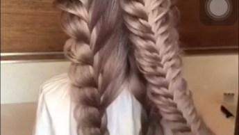Lindo Penteado Com Tranças, Um Jeito Diferente De Fazer Penteados!
