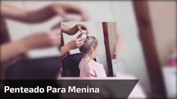 Lindo Penteado Para Menina, Ideal Para Damas De Honras, Confira!
