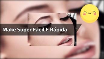 Make Super Fácil E Rápida, Veja Que Lindos Olhos Delineado Com Sombra Delicada!