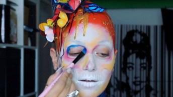 Maquiagem Artística De Caveira, Um Espetáculo De Trabalho, Vela A Pena Conferir!