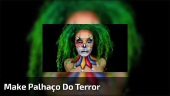 Maquiagem Artística De Palhaço Do Terror, O Resultado É Perfeito!