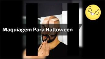 Maquiagem Artística Masculina Para Festas De Halloween Ou Fantasias!