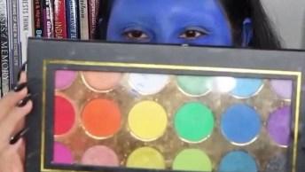 Maquiagem Artística Para Festas Caracterizadas, O Resultado É Diferente E Legal!