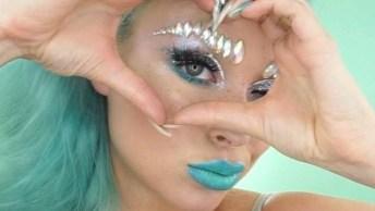 Maquiagem Artística Para Ir Em Festa A Fantasia, Muito Brilho E Glamour!