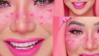 Maquiagem Artística Para Meninas Que Adoram A Cor Rosa, Confira!