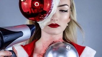 Maquiagem Artística Para O Natal, Perfeito Para Comparecer Em Eventos Natalinos!
