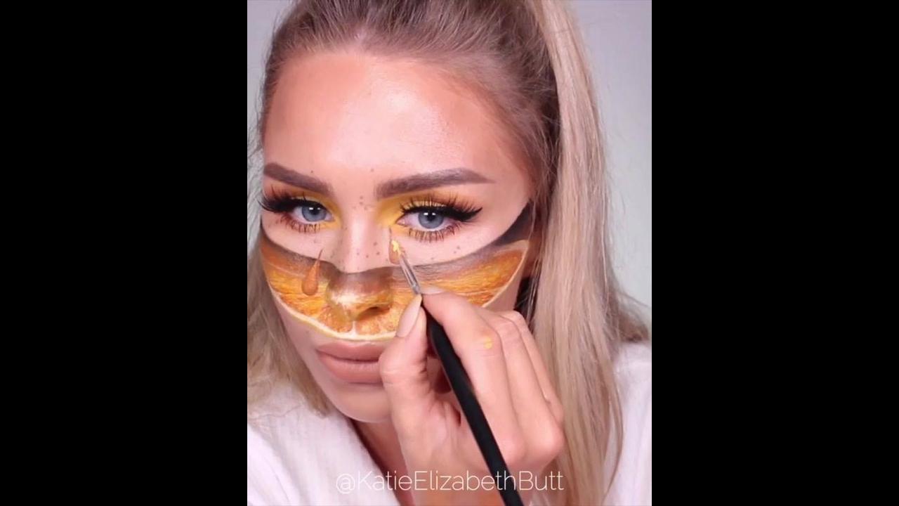 Maquiagem artística que dá gosto de ver ela fazendo