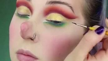 Maquiagem Artísticas Com Tema Natalino, Olha Só Que Legal!