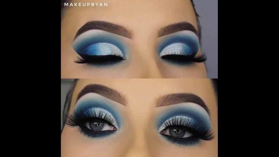 Maquiagem azul para festa, o resultado é lindo demais