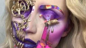 Maquiagem Caveira Mexicana Para Halloween, Olha Só Este Trabalho Magnifico!