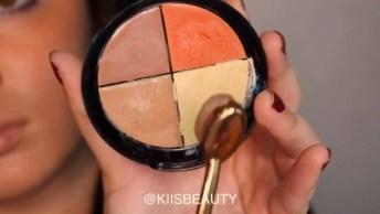 Maquiagem Com Batom Claro, Essa É Perfeita Para O Final De Semana!