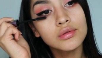 Maquiagem Com Batom De Cor Escura, O Resultado É Maravilhoso!