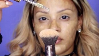 Maquiagem Com Batom Marrom, Ficou Muito Linda, Confira!