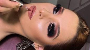 Maquiagem Com Batom Nude, Um Verdadeiro Arraso, Ficou Uma Diva!