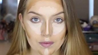 Maquiagem Com Batom Rosa Claro, Uma Make Leve E Linda, Confira!
