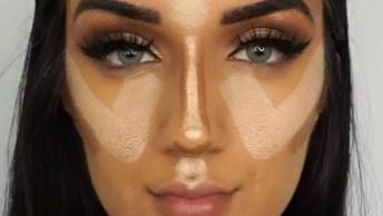 Maquiagem Com Batom Rosê, Uma Maquiagem Fácil De Aprender!