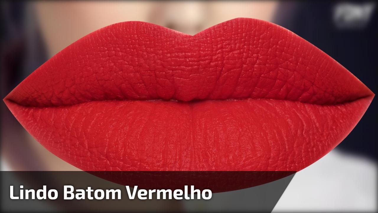 Maquiagem com batom vermelho maravilhoso, você vai amar!