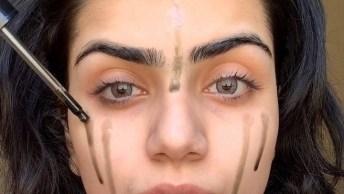 Maquiagem Com Batom Vermelho Vivo, Essa Make É Para Lacrar Em Qualquer Festa!