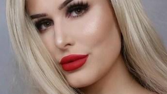 Maquiagem Com Batom Vermelho, Você Vai Querer Aprender Agora Mesmo!