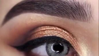 Maquiagem Com Brilho Com Tonalidade Cobre, Mais Um Vídeo Top!