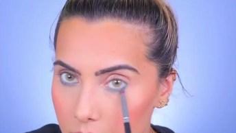 Maquiagem Com Cílios Azul, Esta Super Na Moda Usar Assim!