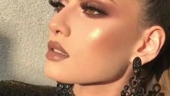 Maquiagem Com Cílios Maravilhosos, Você Vai Amar Essa Make!