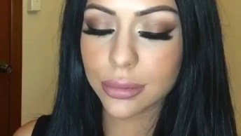 Maquiagem Com Contorno Para Eventos De Dia, Olha Só Que Perfeita Essa Pele!