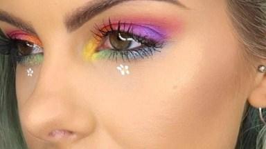 Maquiagem Com Cores Vibrantes, Perfeita Para Curtir Festivais!