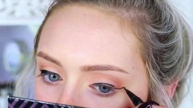 Maquiagem Com Delineado De Duas Cores, Mais Uma Dica Que Precisa Aprender!