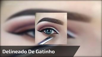 Maquiagem Com Delineado De Gatinho, Uma Make Que Pode Te Dar Muitas Dicas!