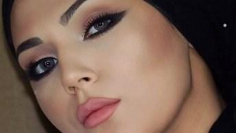 Maquiagem Com Delineado Discreto E Com Pele Suave, Ficou Linda!