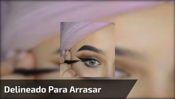 Maquiagem Com Delineado Duplo, Simplesmente Perfeito Vale A Pena Conferir!