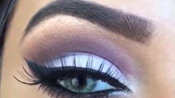 Maquiagem Com Delineado E Sombra Clara, Uma Make Muito Bonita!