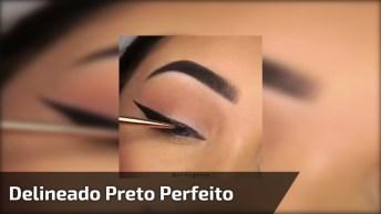 Maquiagem Com Delineado Preto Maravilhoso, Tem Como Não Gostar Dessa Make?