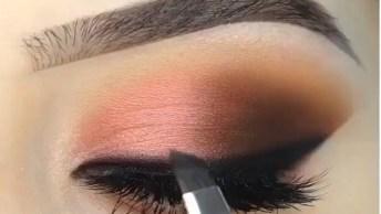 Maquiagem Com Delineado - Uma Linda Opção De Make Para Aprender!