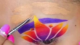 Maquiagem Com Desenho Nos Olhos, Mais Uma Para Deixar Você Apaixonada!