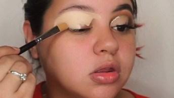 Maquiagem Com Detalhe Em Glitter, Essa Make É Incrível!