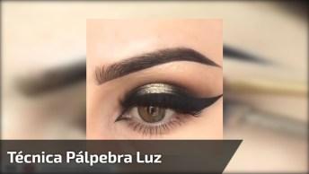 Maquiagem Com Esfumaçado De Lápis E Sombra Dourada, Linda Make!