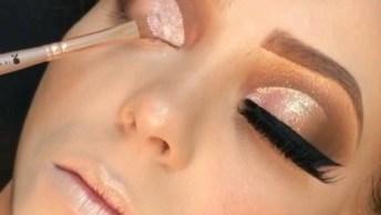 Maquiagem Com Esfumado E Delineado, Mais Um Vídeo De Make Incrível!
