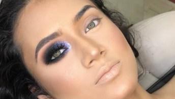 Maquiagem Com Esfumado Marrom, Pálpebra Móvel Com Sombra Preta, E Pigmento!