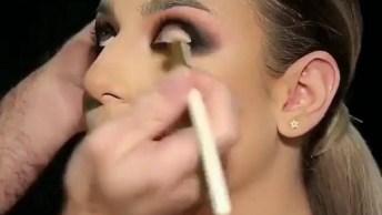 Maquiagem Com Esfumado Perfeito, Essa Make É Arrasadora!