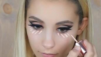 Maquiagem Com Esfumado Preto E Batom Marrom Claro, Que Maravilhoso Resultado!