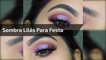 Maquiagem Com Linda Sombra Lilás, Perfeita Para Qualquer Ocasião!