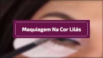 Maquiagem Com Maquiagem Para Os Olhos Na Cor Lilás, Simplesmente Perfeita!