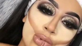 Maquiagem Com Muito Brilho Para Festas Glamourosas, Vale A Pena Conferir!