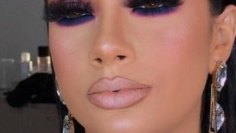 Maquiagem Com Olhos Destacados E Batom Nude, Muito Linda Essa Ideia!