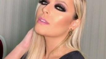 Maquiagem Com Olhos Escuros Para Mulheres Loiras, Que Arraso!