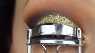 Maquiagem Com Olhos Esfumado Com Glitter, Vale A Pena Conferir!